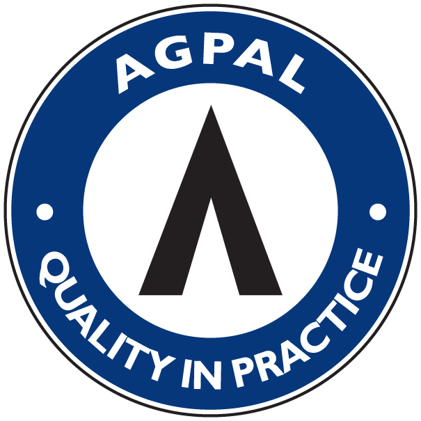 AGPAL approved medical centre logo